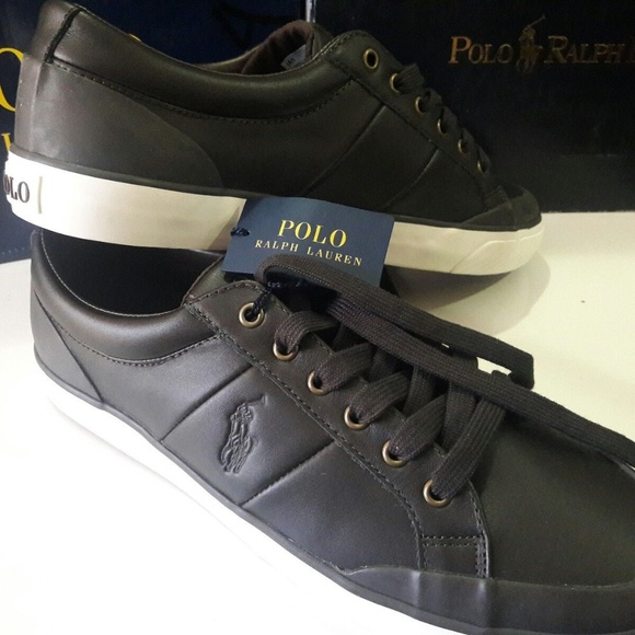 Polo by Ralph Lauren Shoes   Polo Ralph Lauren Mens Brown Leather ... 4b9d93d0606